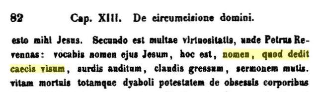 nomen, quod dedit